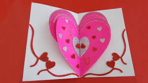 valentines day cards for him valentines day heart card s day pop up card tutorial