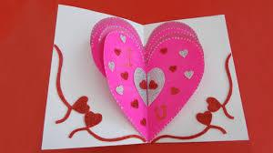 valentines day heart card valentine u0027s day pop up card tutorial