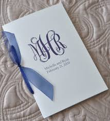 wedding programs with ribbon sle wedding programs sle wedding programs