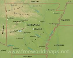 map of arkansas physical map of arkansas