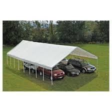White Awning Ultra Max 30 U0027 X 50 U0027 Industrial Canopy White Shelterlogic Target