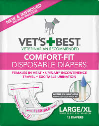 Comfort Diapers Vet U0027s Best Comfort Fit Disposable Diapers For Female Dogs Large X