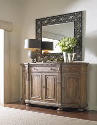 Dining Room Credenza Shaped Credenza With Concave Side Doors Decorative Panels And