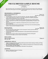Sample Resume Of Driver Truck Driver Resume Examples Driver Resume Sample Doc Cdl Truck