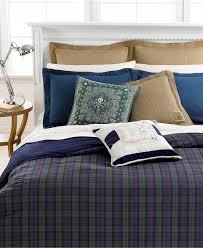 Home Design Down Alternative Comforter by Lauren Ralph Lauren Blackwatch Yarn Dyed Plaid Bedding Collection