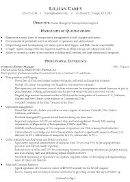 Qualifications In Resume Examples by Resume Senior Manager Logistics Susan Ireland Resumes