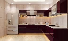 kitchen design inspiring modern red l shaped kitchen design