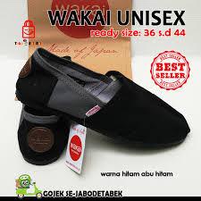 Sepatu Wakai jual sepatu wakai murah pria wanita unisex abu hitam sol hitam