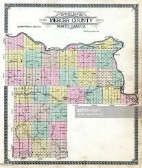 mercer map dakota 1918 mercer county outline map mercer county stock