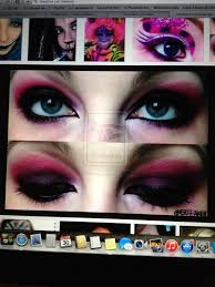 Purple Halloween Eye Makeup by Becoming Cheshire Cat Halloween Tease Makeup Mix Up Gabrielle