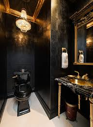 Black And Red Bathroom Ideas Colors 15 Refined Decorating Ideas In Glittering Black And Gold Powder