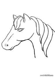 horse head coloring pages hellokids
