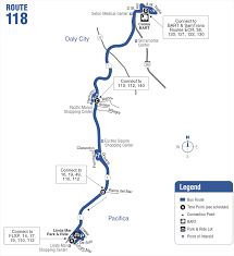 Bart Route Map route 118