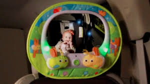 baby car mirror with light brica deluxe baby in sight firefly mirror babies r us