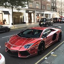 red chrome lamborghini aventador blue chrome lamborghini on instagram