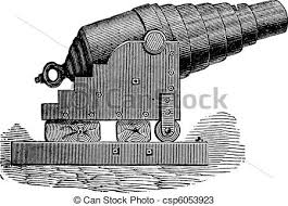vectors of armstrong cannon old engraving armstrong cannon or