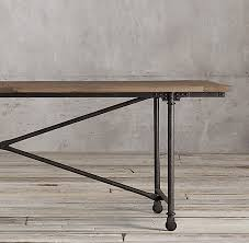 restoration hardware flatiron table rectangular dining table