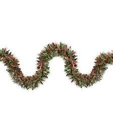 tinsel garland 12 green metallic gold wide cut christmas tinsel garland