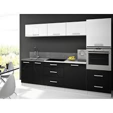 cuisine blanc noir stella blanc noir cuisine compl te 260 cm achat meuble de cuisine