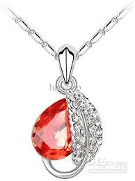 diamond necklace red images Foliage necklace gold red diamond necklaces leaf pendants cheap jpg