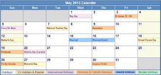 2013 printable calendar with holidays c to f
