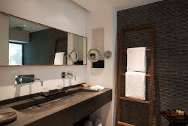 dark bathroom ideas dazzling dark bathroom feats concrete floating sink also long