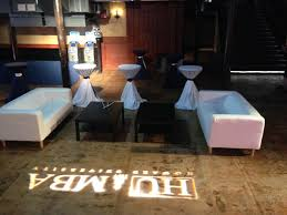 one lounge our company set up for a release after party at the