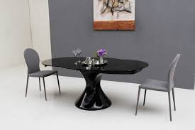 Black Glass Extending Dining Table Dining Tables Glass Dining Table Extending â Gallery