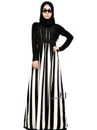 black and white fall stripped muslim women dress u2013 girls hijab