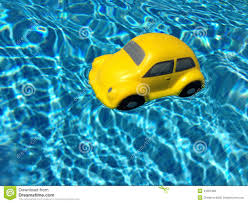 car toy blue a floating car stock photo image 41561909
