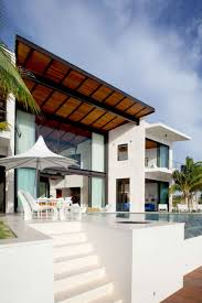 exterior amazing modern modular house design with glass