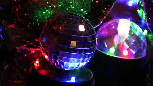 Ball Table Decorations Party Lights Disco Ball At A Nightclub At Blur Stock Footage
