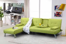 Green Sofa Bed Wonderful Idea To Decorate Contemporary Corner Sofa With Bed Idea