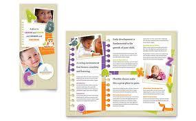 preschool u0026 day care pamphlet templates child care