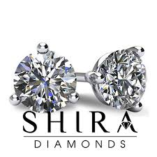 ear studs images shira diamonds 1 40ct f si2 ear studs 3 prong martini style