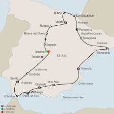 Catalonia Spain Map by Spanish Guided Tours With Barcelona Madrid U0026 More Globus