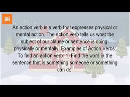 what is the meaning of verbs and examples youtube
