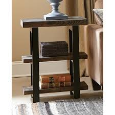 Wood And Metal End Table Alaterre Pomona 2 Shelf Metal And Reclaimed Wood Rustic End Table