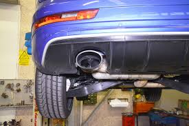 jeep stock exhaust new exhaust system for audi rs q3 with bypass valve and dual oval