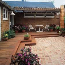 free building plan for a transitional backyard deck sunset