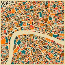 city map abstract map illustrator jazzberryblue prints