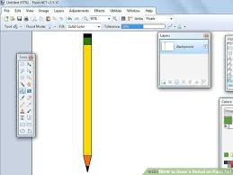 how to draw a pencil on paint net 4 steps with pictures