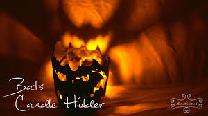 halloween votive candle holders bats candle holder simple halloween polymer clay tutorial youtube