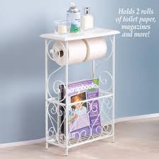toilet paper u0026 magazine holder table basket below scroll design