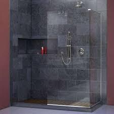 Bathroom Shower Panels Glass Screens Panels Shower Doors Of Throughout Panel