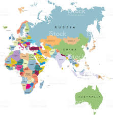 Blank Map Of Eurasia by Territory Of Continents Europe Australia Africa Eurasia Stock