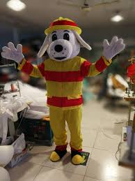 fireman fire dog mascot costume size rabbit costume kid