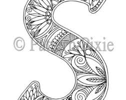 letter s coloring etsy