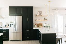 ikea light oak kitchen cabinets classic black bright and light ikea semihandmade kitchen