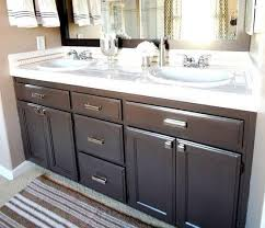 Diy Bathroom Cabinet How To Refinish Bathroom Cabinets Pictures Bathroom Decor Ideas